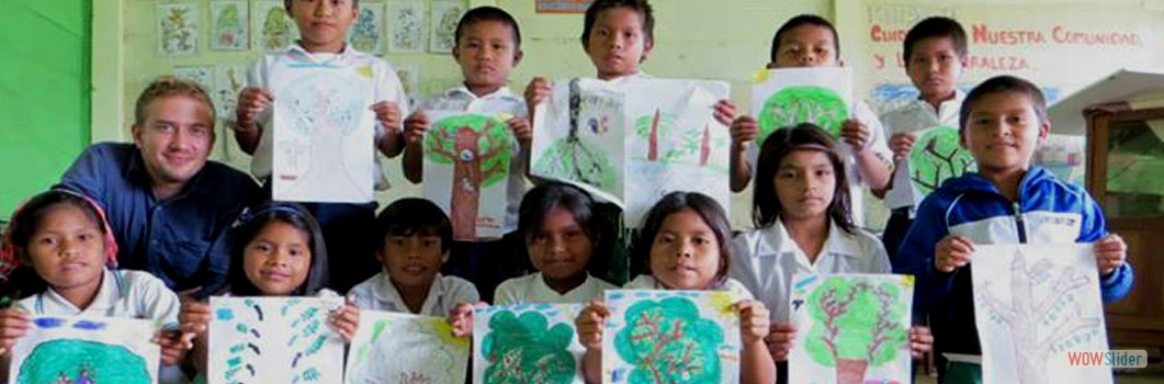 Children of the Amazon painting about the protection of the Amazon Forest.