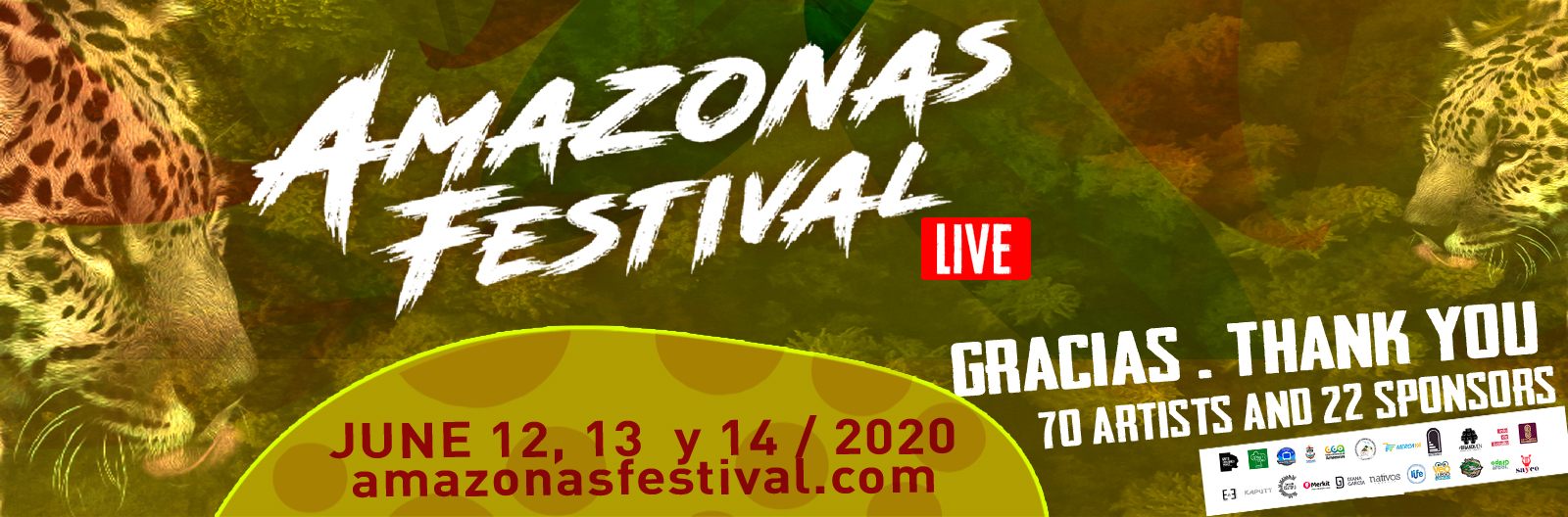 AMAZONAS FESTIVAL 2020, FIRST STREAMING LIVE CONCERT IN COLOMBIA.